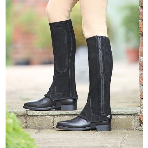 Shires Childrens Suede Half Chaps