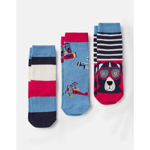 Joules Boys Brilliant Bamboo 3 Pack Character Socks