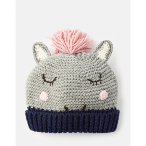 Joules Girls Chummy Knitted Character Hat