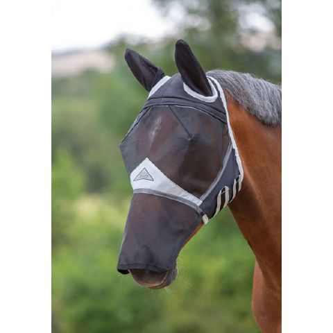 Shires Fine Mesh Fly Mask with Ears and Nose