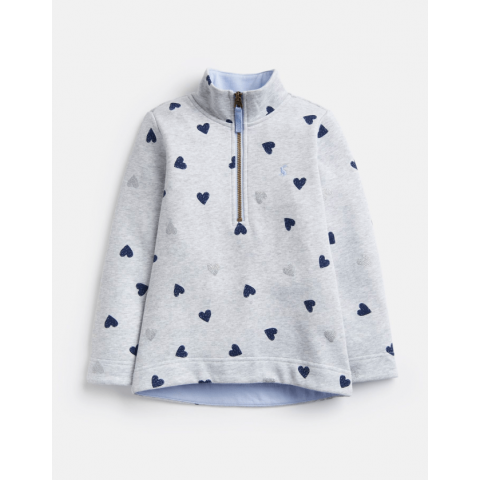 Joules Girls Fairdale Half Zip Sweatshirt