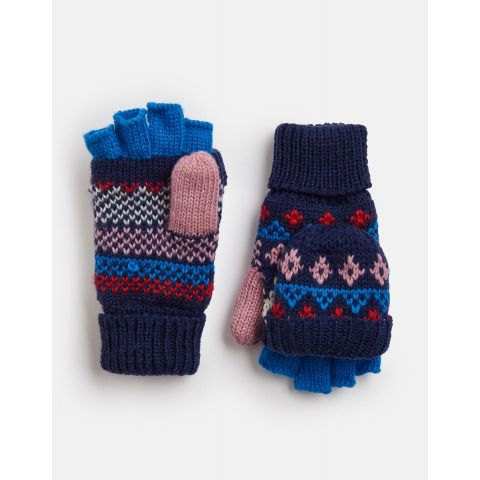 Joules Girls Fallbury Converter Knitted Gloves