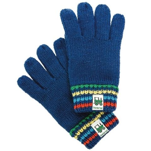 Tractor Ted Childrens Knitted Gloves
