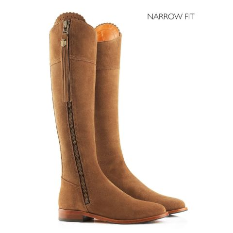 Fairfax & Favor Ladies Flat Regina Narrow Fit Suede Boots