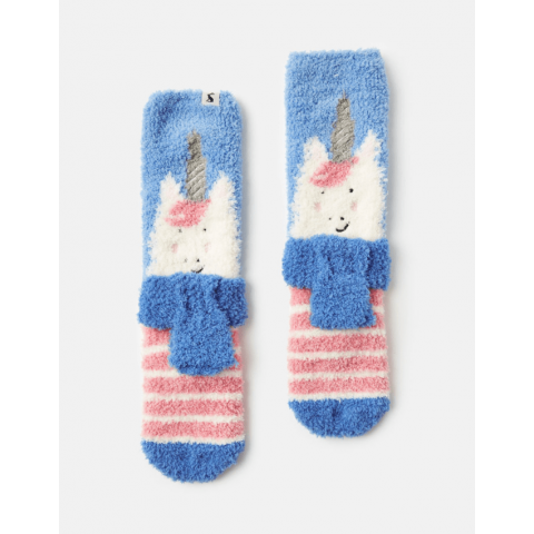 Joules Girls Fluffy Character Socks
